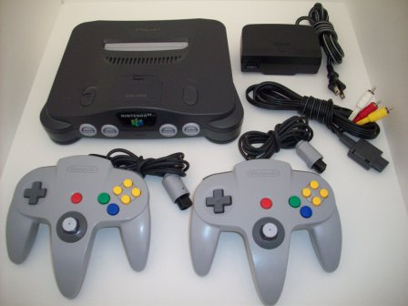 N64 System w/ Expansion Pak, 2 Controllers, AV Cable, Power Pack